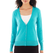 Worthington® Essential Long-Sleeve V-Neck Cardigan Sweater - Tall