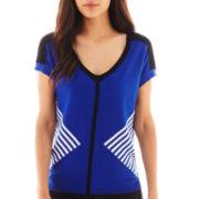 Worthington® Short-Sleeve V-Neck Sweater
