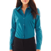 Worthington® Long-Sleeve Button-Front Shirt