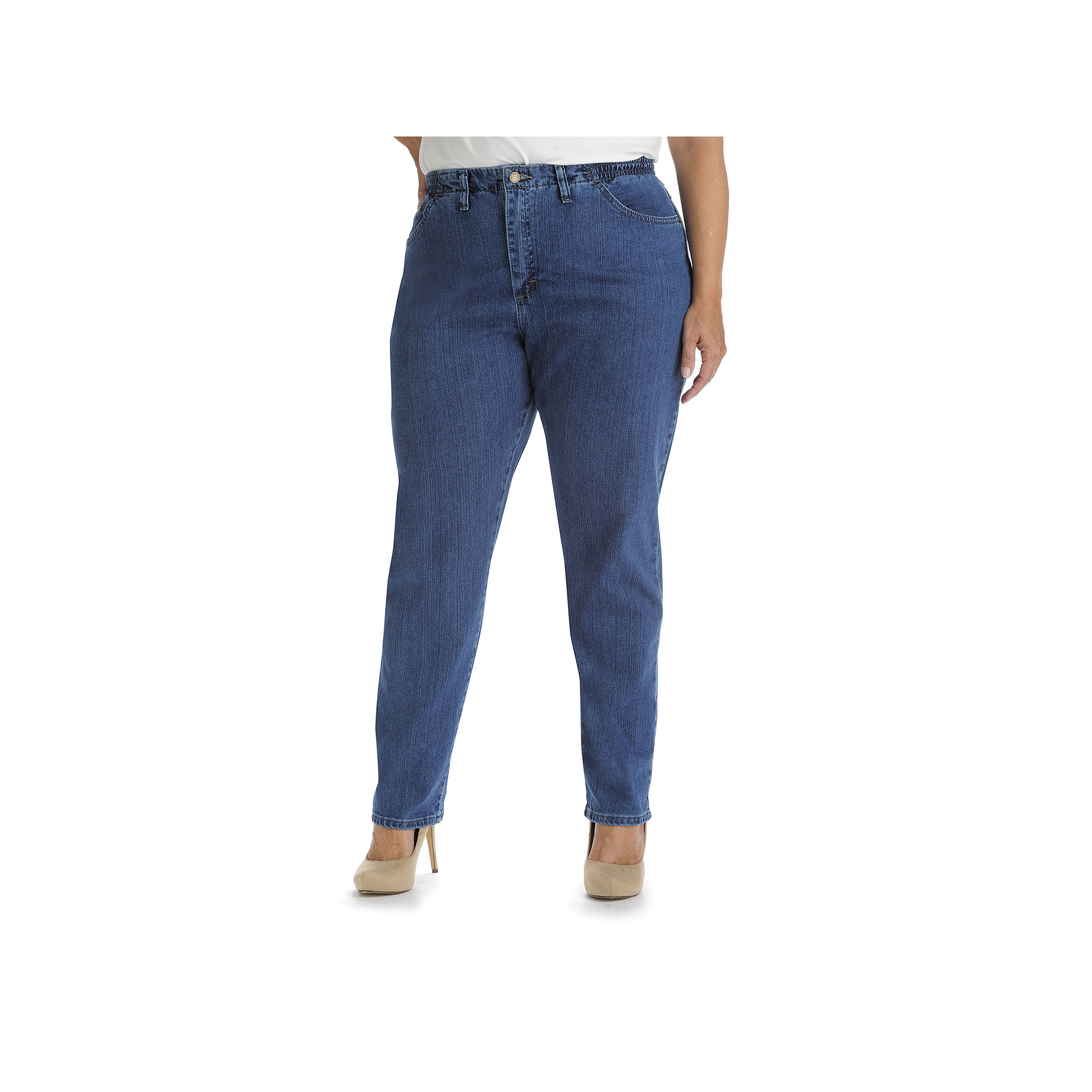 Lee Side-Elastic Jeans - Plus plus size,  plus size fashion plus size appare