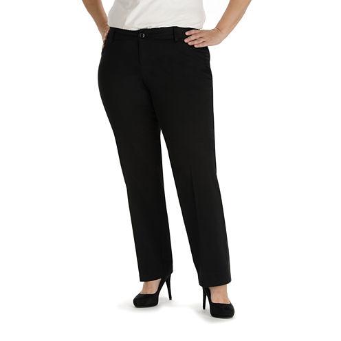 Lee® Modern Series Curvy Fit Twill Trouser Pants - Plus