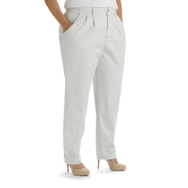 jcpenney.com | Lee® Side-Elastic Twill Pants - Plus