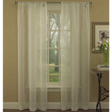 jcpenney.com | Laura Ashley® Audrey Rod-Pocket 2-Pack Sheer Curtain Panels