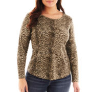 Liz Claiborne® Long-Sleeve Thermal Top - Plus
