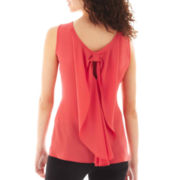 Heart & Soul Sleeveless Bow-Back Necklace Top