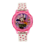 Disney Minnie Mouse Kids Polka Dot Strap Digital Watch