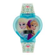 Disney Frozen Elsa and Anna Kids Heart-Shaped Digital Watch