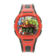 Avengers Kids Red Strap Digital Watch