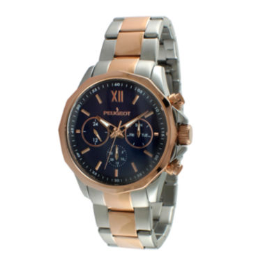jcpenney.com | Peugeot® Mens Rose-Tone Stainless Steel Bracelet Watch 1046TBL