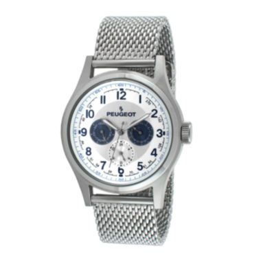 jcpenney.com | Peugeot® Mens Stainless Steel Mesh Watch 1049S