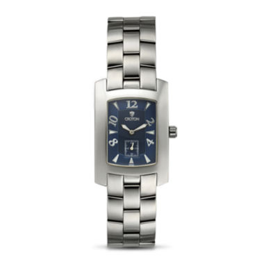 jcpenney.com | Croton Mens Blue Dial Stainless Steel Tonneau Watch