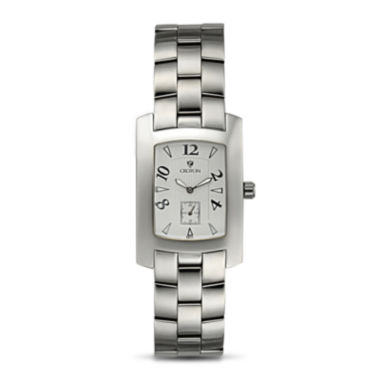 jcpenney.com | Croton Mens White Dial Stainless Steel Tonneau Watch