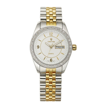 jcpenney.com | Croton Womens Crystal-Accent Two-Tone Bracelet Watch