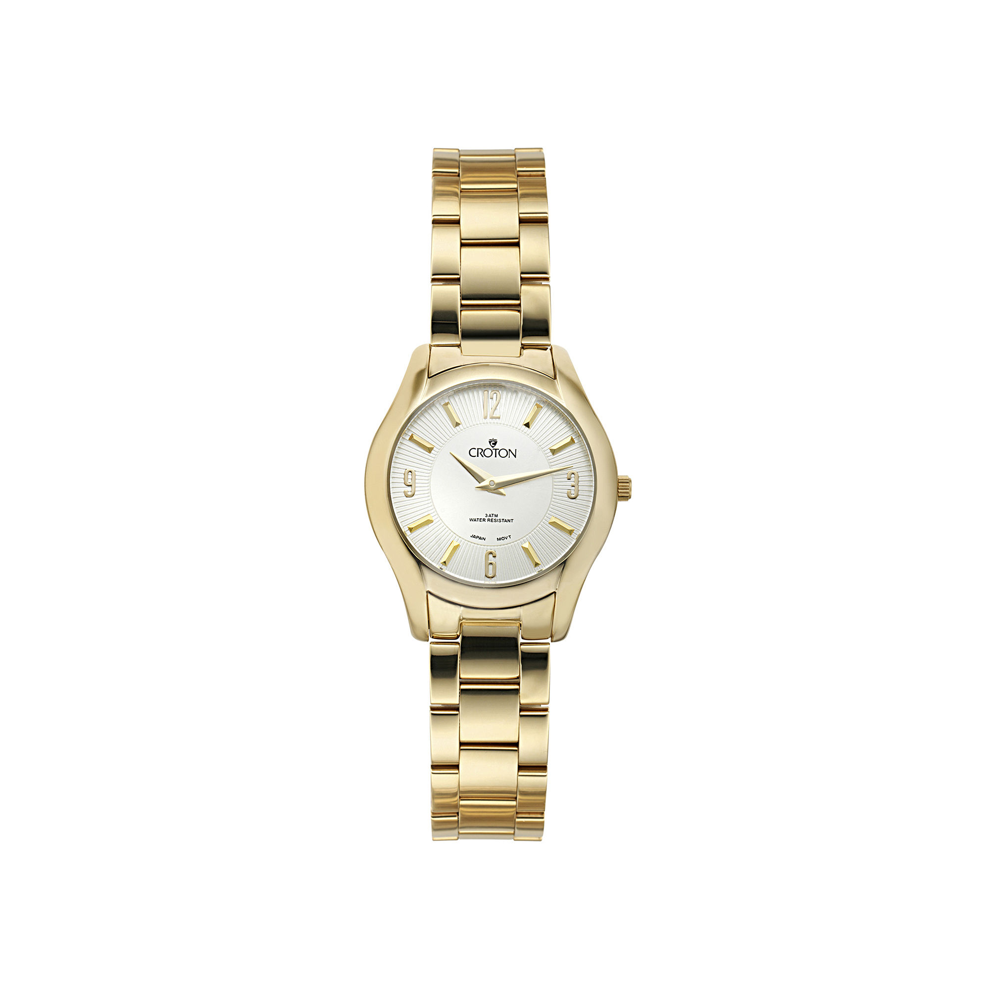 Croton Womens Gold-Tone Stainless Steel Watch