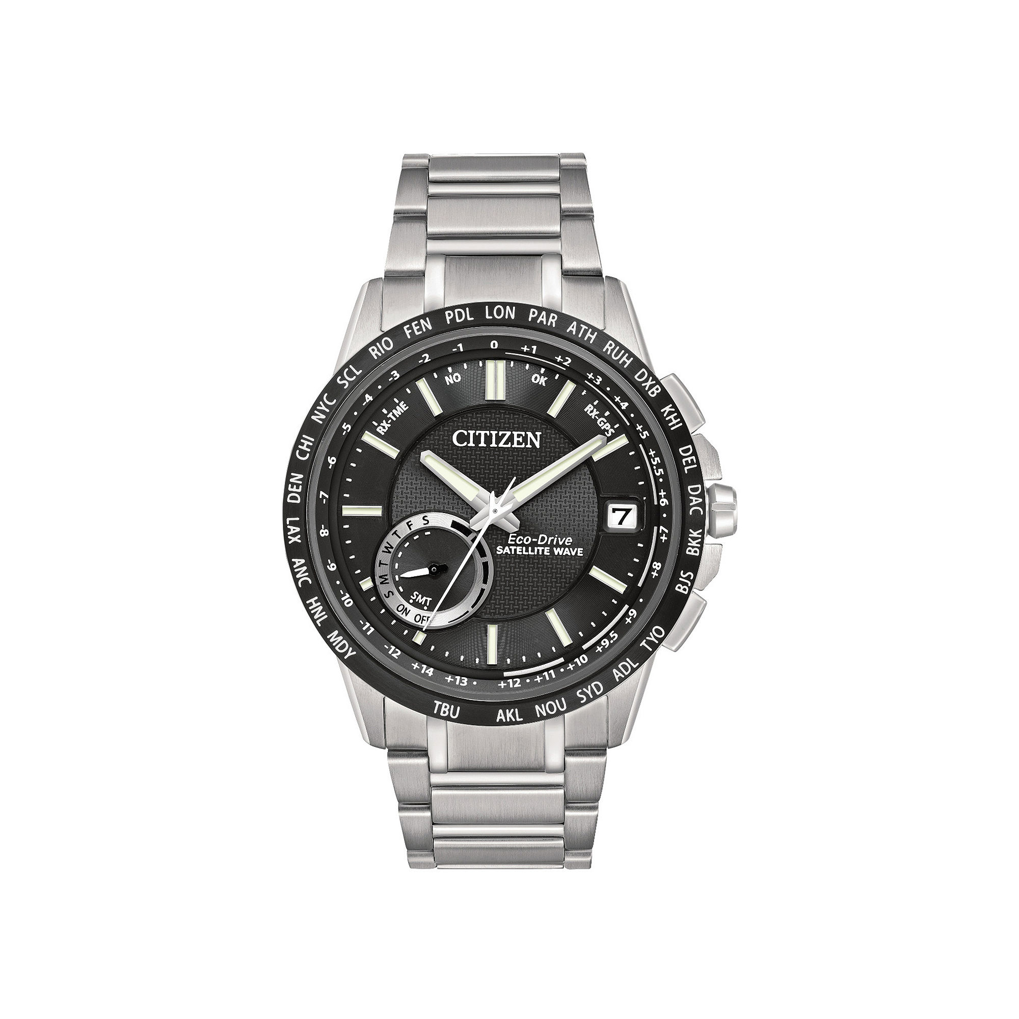 Citizen Eco-Drive Satellite Wave-World Time GPS Mens Watch CC3005-85E