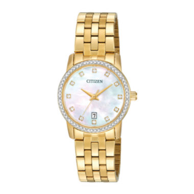 jcpenney.com | Citizen® Womens Crystal-Accent Gold-Tone Stainless Steel Bracelet Watch EU6032-51D