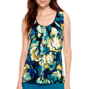 Worthington® Sleeveless Woven Shell Blouse - Tall