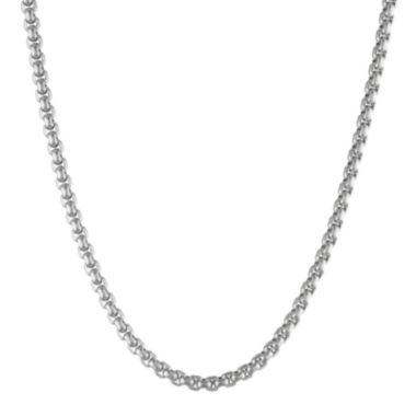 "jcpenney.com | Mens Stainless Steel 24"" 4mm Box Chain"