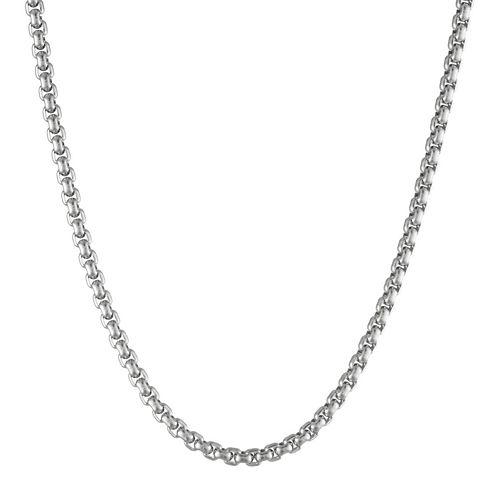 """Mens Stainless Steel 24"""" 4mm Box Chain"""