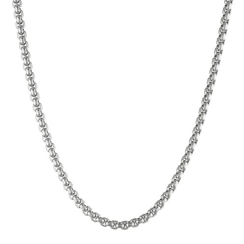 """Mens Stainless Steel 30"""" 4mm Box Chain"""