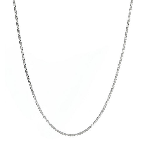 "Mens Stainless Steel 18"" 2mm Round Box Chain"