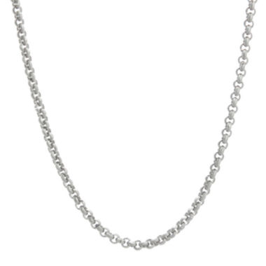 "jcpenney.com | Mens Stainless Steel 24"" 3mm Rolo Chain"