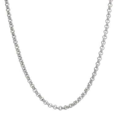 "jcpenney.com | Mens Stainless Steel 30"" 3mm Rolo Chain"