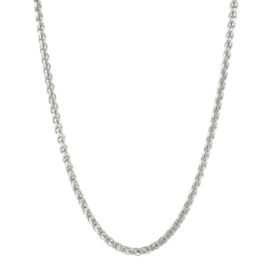 "jcpenney.com | Mens Stainless Steel 30"" 3mm Wheat Chain"