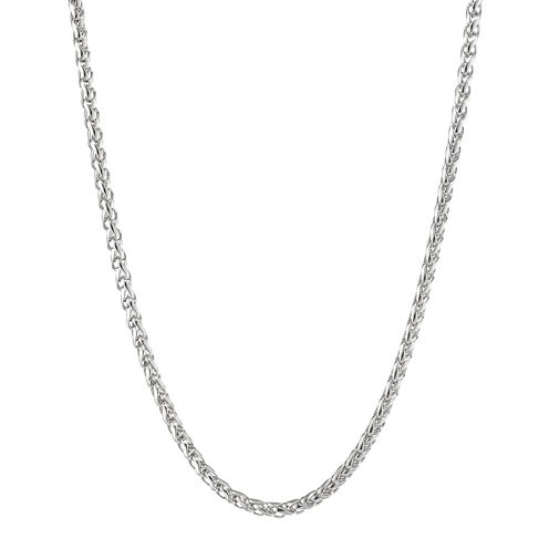 """Mens Stainless Steel 30"""" 3mm Wheat Chain"""