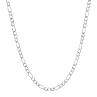 "jcpenney.com | Mens Stainless Steel 24"" 3mm Figaro Chain"