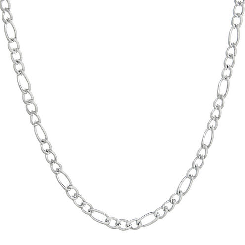 """Mens Stainless Steel 24"""" 4mm Figaro Chain"""