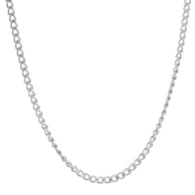 "jcpenney.com | Mens Stainless Steel 18"" 2mm Curb Chain"