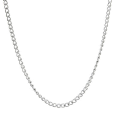 "jcpenney.com | Mens Stainless Steel 18"" 3mm Curb Chain"