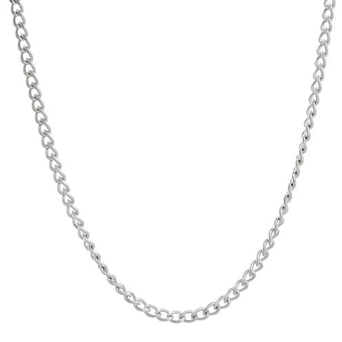 "Mens Stainless Steel 18"" 3mm Curb Chain"