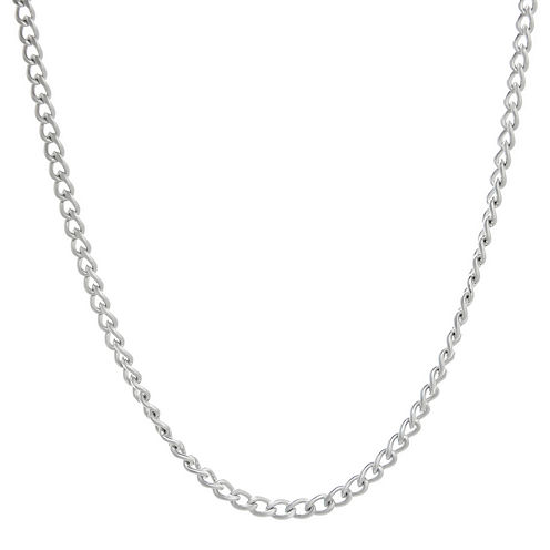"Mens Stainless Steel 24"" 3mm Curb Chain"