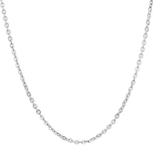 "Mens Stainless Steel 24"" 2.5mm Cable Chain"