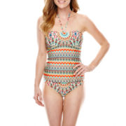 a.n.a® Bejeweled Print Bandeaukini  Swim Top or Hipster Bottoms