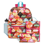 Confetti 5-pc. Cupcake-Print Backpack Set