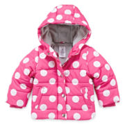 Carter's® Polka Dot Bubble Jacket - Baby Girls 12m-24m