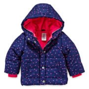 Carter's® Heart Print Bubble Jacket - Baby Girls 12m-24m