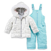 Carter's® Faux Fur-Trimmed Snowsuit - Baby Girls 12m-24m