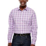 Claiborne® Long-Sleeve Plaid Woven Shirt