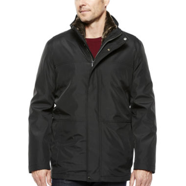 jcpenney.com | Claiborne® Systems Car Coat with Faux Fur Lining