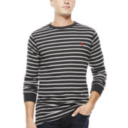 U.S. Polo Assn.® Striped Thermal Crewneck
