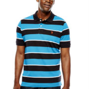 U.S. Polo Assn.® Striped Short-Sleeve Piqué Polo