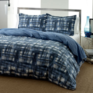 jcpenney.com | City Scene Ink Wash Abstract Plaid Duvet Cover Set