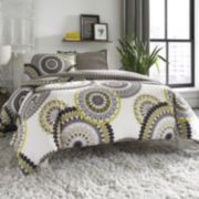 City Scene Radius Medallion Duvet Cover Set