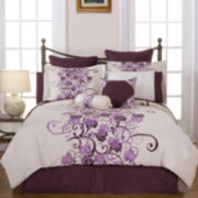 Pointehaven Grapevine 12-pc. Complete Bedding Set with Sheets