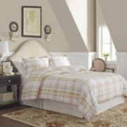 Pointehaven Tristan Plaid Flannel Duvet Cover Set