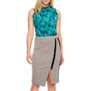 Worthington® Wrap-Neck Top or Zipper Envelope Skirt